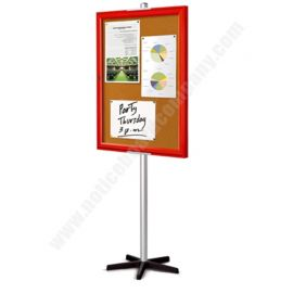 Single Sided Allure Mobile Cork Board with Coloured Frame