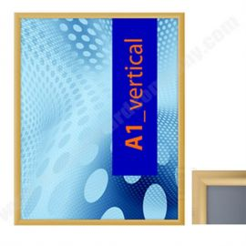 External Weatherproof Poster Holder - Gold Frame