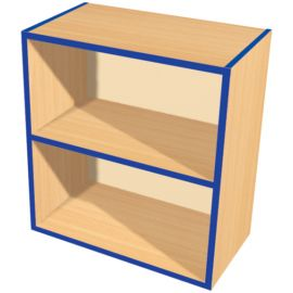 KubbyKurve Two Tier 1+1 Open Shelf Unit