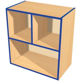 KubbyKurve Two Tier 2+1 Open Shelf Unit