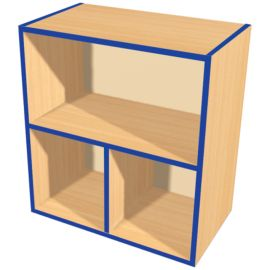 KubbyKurve Two Tier 1+2 Open Shelf Unit