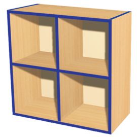 KubbyKurve Two Tier 2+2 Open Shelf Unit