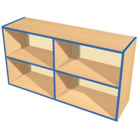 KubbyKurve Wide Two Tier 2+2 Open Shelf Unit
