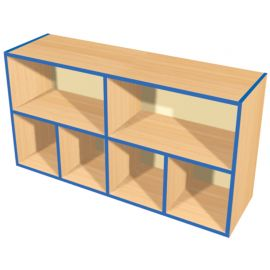KubbyKurve Wide Two Tier 2+4 Open Shelf Unit
