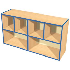 KubbyKurve Wide Two Tier 4+2 Open Shelf Unit