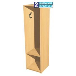 Open Static Single Bay Cloakroom Station - 1m High