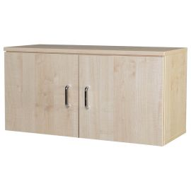 10 Space Wall Mounted Cupboard in Beech