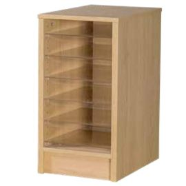 6 Space Single Bay Pigeonhole Unit in Beech