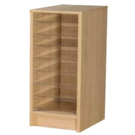 8 Space Single Bay Pigeonhole Unit in Beech
