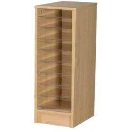 9 Space Single Bay Pigeonhole Unit in Beech