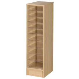 10 Space Single Bay Pigeonhole Unit in Beech
