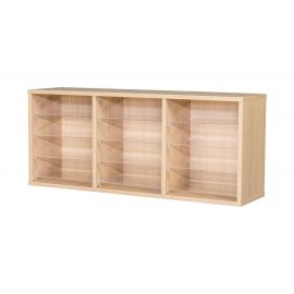 12 Space Triple Bay Wall Mounted Pigeonhole Unit in Beech