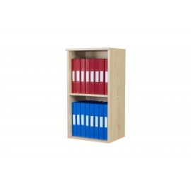 10 Space Wall Mounted Unit (2 Tiers) in Beech