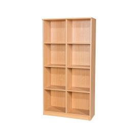 40 Space Open Box File Unit in Beech