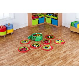 Back to Nature™ Bug Mini Placement Carpets set of 14