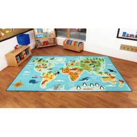 Animals & Places of the World Carpet - GERMAN