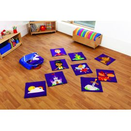 Story Time Interactive Carpet Tiles with Holdall