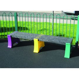 Multicoloured Bench - 3 Person
