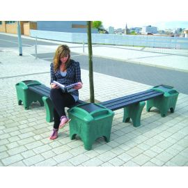 Modular Seating with Planter Boxes